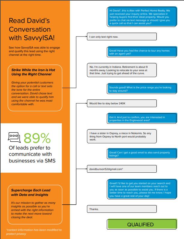 SavvyISA Conversation Example